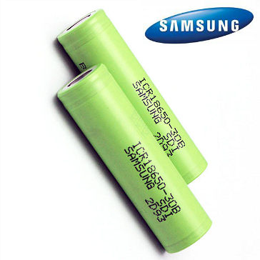 Samsung ICR18650-30B 3000mAh 3.7v Rechargeable Battery (Flat Top)