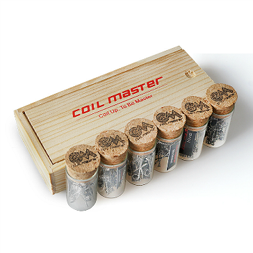 60x COIL MASTER Pre-Built Flat Twisted Kanthal Coils (0.36Ω)